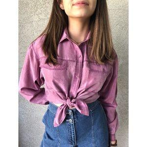 VINTAGE | Brushed silk blouse